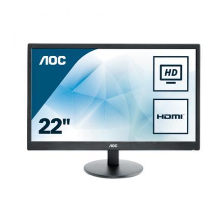"""AOC Basic-line E2270SWHN LED display 54,6 cm (21.5"""") 1920 x 1080 Pixeles Full HD Negro - Imagen 1"""