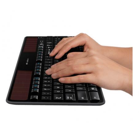 Logitech K750 teclado RF inalámbrico QWERTY Inglés del Reino Unido Negro - Imagen 4