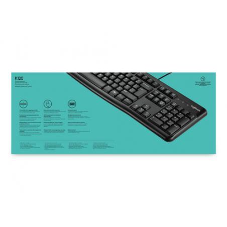 Logitech Keyboard K120 for Business teclado USB QWERTY Internacional de EE.UU. Negro - Imagen 3