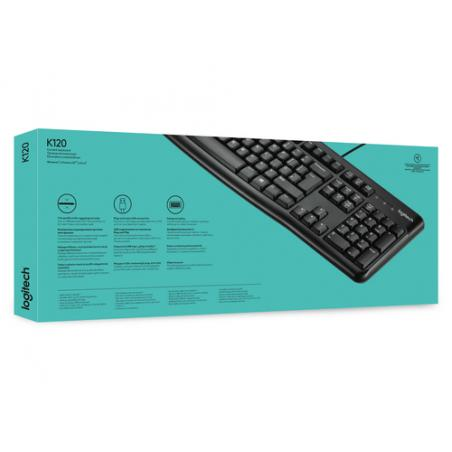 Logitech Keyboard K120 for Business teclado USB QWERTY Internacional de EE.UU. Negro - Imagen 5