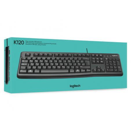 Logitech Keyboard K120 for Business teclado USB QWERTY Internacional de EE.UU. Negro - Imagen 6